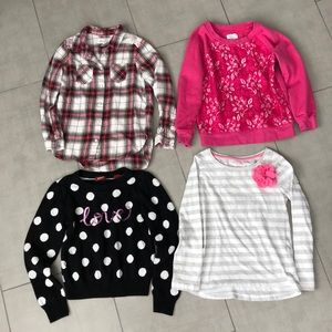 Other - Cute Girls Long Sleeve and Sweater 5/6 Lot